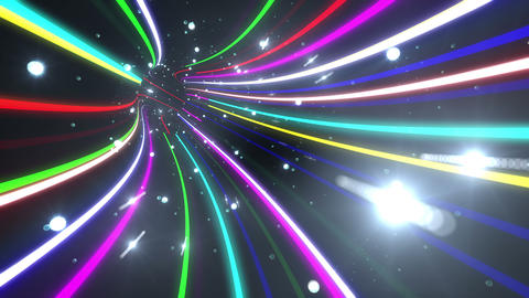Tunnel Neon Tube AL 5 4k Animation