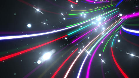 Tunnel Neon Tube AL 5 4k Stock Video Footage