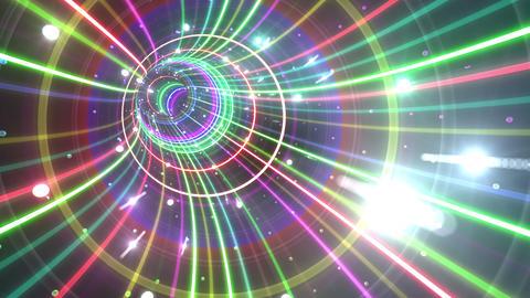 Tunnel Neon Tube BL 5 4k Animation