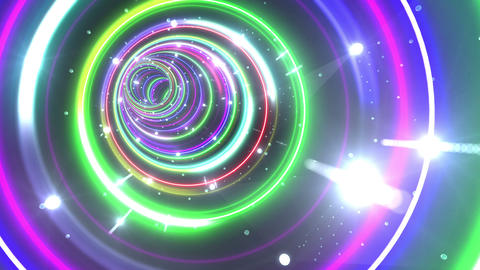 Tunnel Neon Tube CL 5 4k Animation