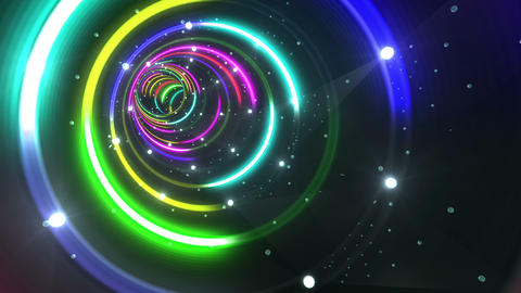 Tunnel Neon Tube CS 4 4k Animation