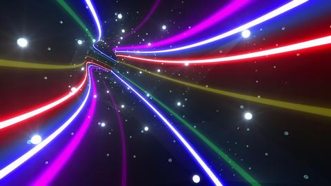 Tunnel Neon Tube DL 4 4k Animation