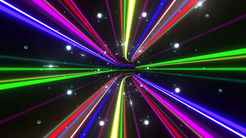 Tunnel Neon Tube DL 5 4k Stock Video Footage