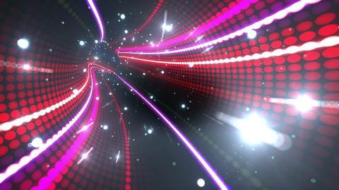 Tunnel Neon Tube DL 6b 4k CG動画