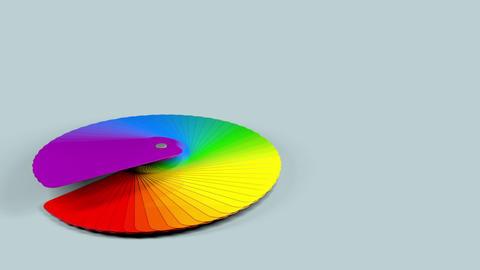 Color Palette Sampler with Alpha Animation