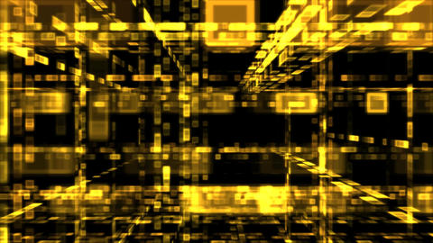 Abstract Moving Rectangles Animation - Loop Yellow stock footage