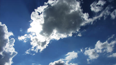 beautiful clouds with sun background - timelapse 4 Stock Video Footage