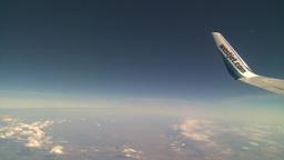 HD2008-8-9-21 737 aerial wing Westjet Stock Video Footage