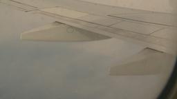 HD2008-8-9-31 737 aerial wing hru clouds Footage