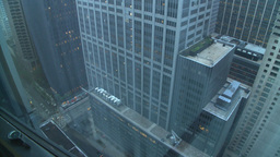 HD2008-8-9-33 night to day TL NYC Hotel 40 th floor Stock Video Footage
