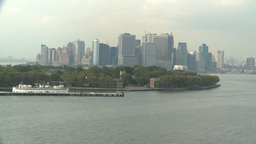 HD2008-8-10-2 NYC skyline Stock Video Footage
