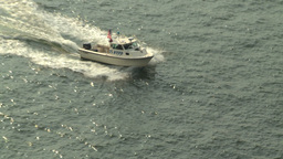 HD2008-8-10-6 NYPD boat Stock Video Footage