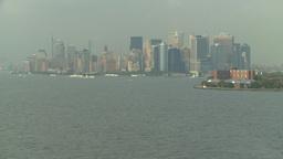 HD2008-8-10-10 NYC skyline Stock Video Footage