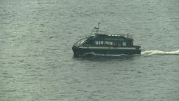 HD2008-8-10-16 little green boat Stock Video Footage