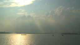 HD2008-8-10-20 god clouds upper bay Stock Video Footage