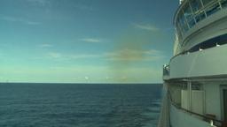 HD2008-8-10-38 cruise ship open ocean Stock Video Footage