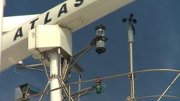 HD2008-8-10-56 cruise ship radar Stock Video Footage