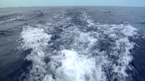 water swirl horizont Stock Video Footage