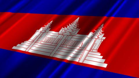 CambodiaFlagLoop02 Stock Video Footage