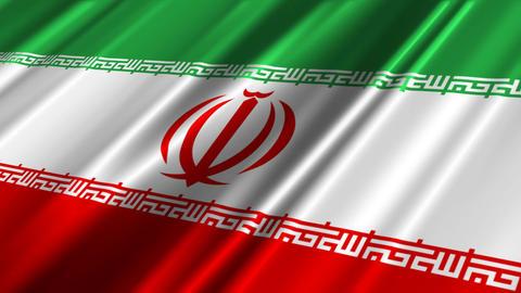 IranFlagLoop02 Stock Video Footage