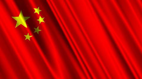 ChinaFlagLoop01 Stock Video Footage