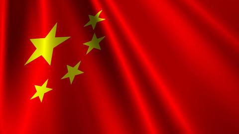 ChinaFlagLoop03 Stock Video Footage
