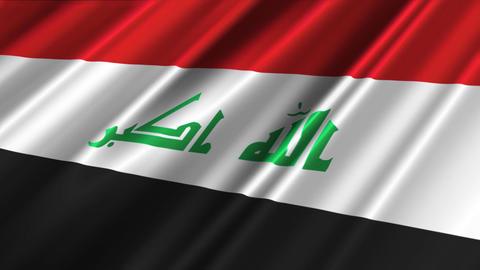 IraqFlagLoop02 Stock Video Footage