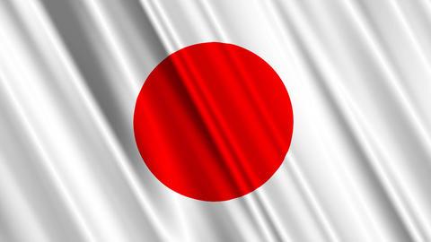 JapanFlagLoop01 Stock Video Footage