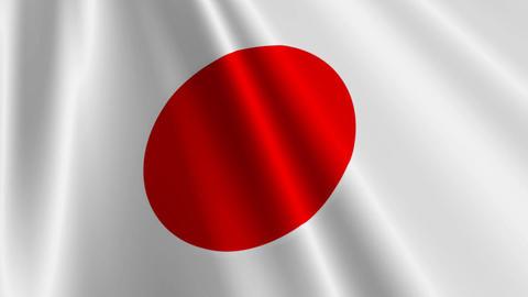 JapanFlagLoop03 Stock Video Footage
