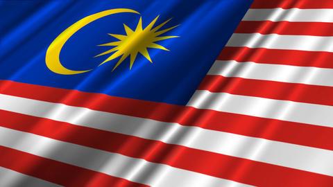MalaysiaFlagLoop02 Stock Video Footage