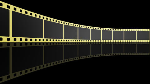 Film Strip D02b Stock Video Footage