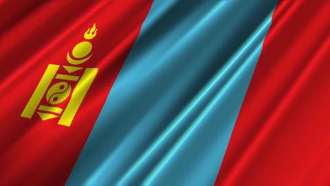 MongoliaFlagLoop02 Stock Video Footage