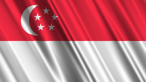 SingaporeFlagLoop01 Animation