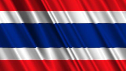 ThailandFlagLoop01 Stock Video Footage