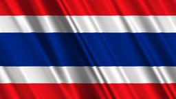 ThailandFlagLoop01 Stock Video Footage