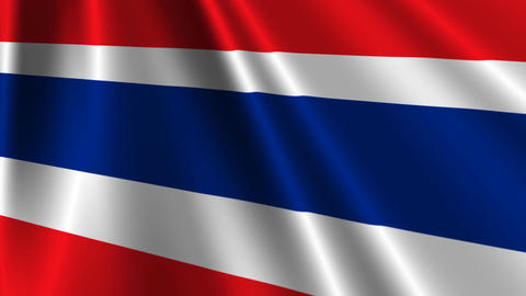 ThailandFlagLoop03 Stock Video Footage