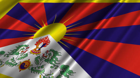 TibetFlagLoop02 Stock Video Footage