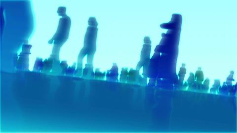 silhouette sideways Stock Video Footage