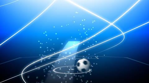 Flying soccer ball Stock Video Footage