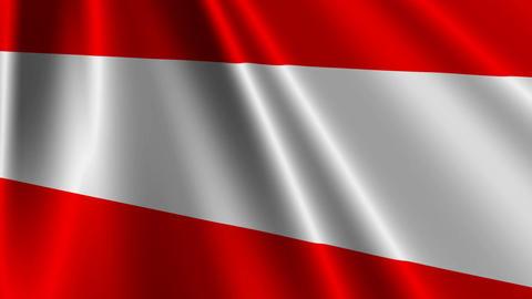 AustriaFlagLoop03 Stock Video Footage