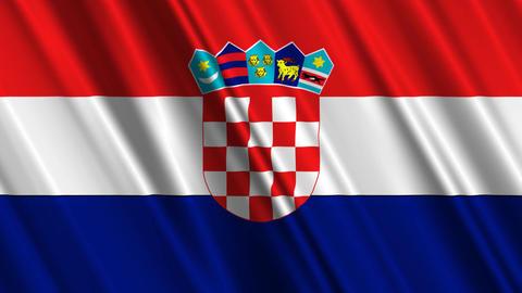 CroatiaFlagLoop01 Stock Video Footage