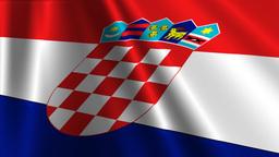 CroatiaFlagLoop03 Stock Video Footage