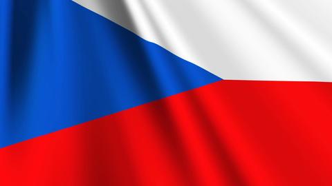 CzechRepublicFlagLoop03 Stock Video Footage