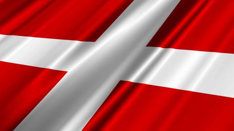 DenmarkFlagLoop02 Stock Video Footage
