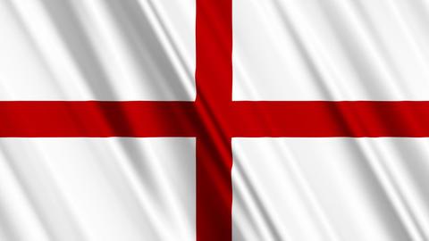 EnglandFlagLoop01 Stock Video Footage