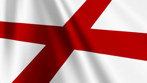 EnglandFlagLoop03 Stock Video Footage