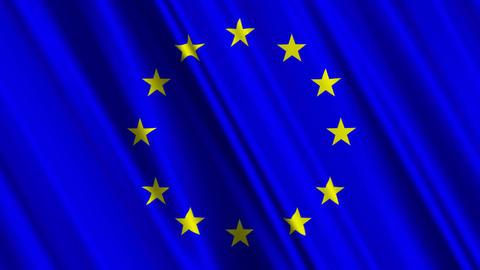 EUFlag01 Stock Video Footage