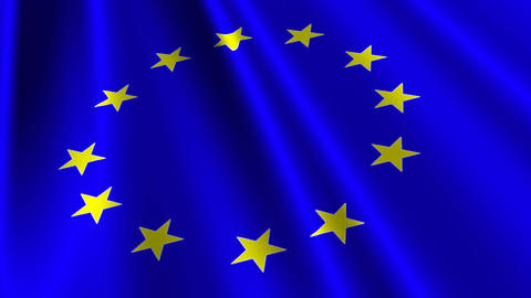 EUFlag03 Stock Video Footage