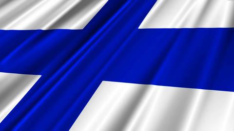 FinlandFlagLoop02 Stock Video Footage