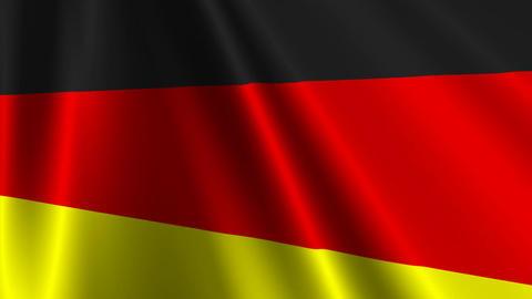 GermanyFlag03 Stock Video Footage